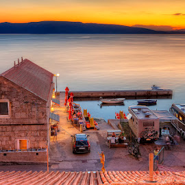 Senj, Croatia by Marina Danic - City,  Street & Park  Night (  )