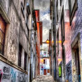 Little street by Carlos Pereira - City,  Street & Park  Street Scenes