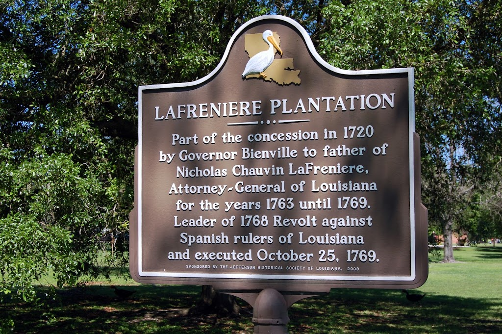 Part of the concession in 1720 by Governor Bienville to father of Nicholas Chauvin LaFreniere, Attorney-General of Louisiana for the years 1763 until 1769. Leader of the revolt against Spanish rulers ...