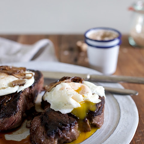 Pan Seared Smoky Steak and Eggs