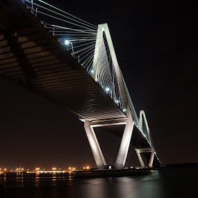 Arthur Ravenel, Jr. Bridge by Daniel Gorman - Buildings & Architecture Office Buildings & Hotels ( water, charleston, mount pleasant, charleston harbor, cooper river, jr. bridge, bridge, arthur ravenel, scenic, south carolina, river,  )
