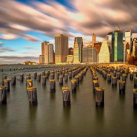 Lower Manhattan by Stanley P. - City,  Street & Park  Vistas ( manhattan, new york )