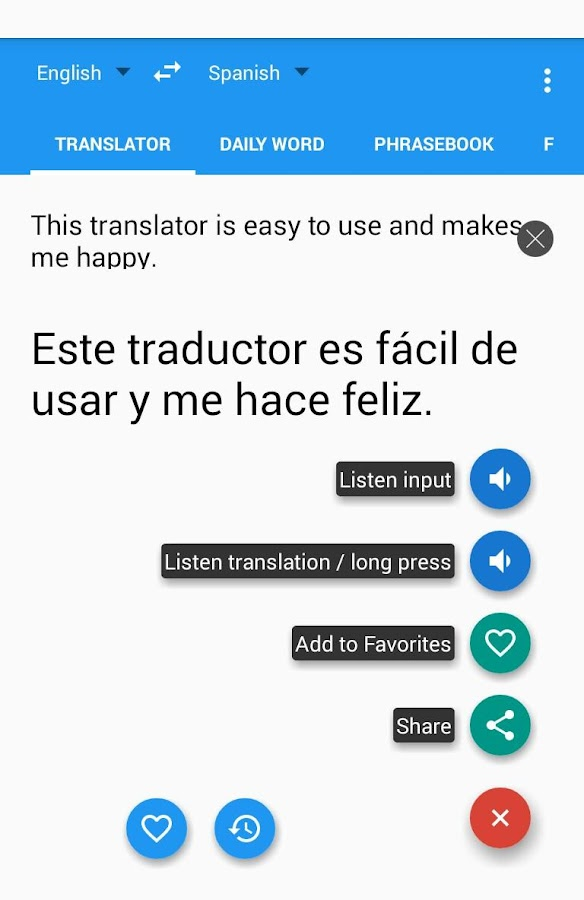 Learn with Talking Translator Screenshot 3