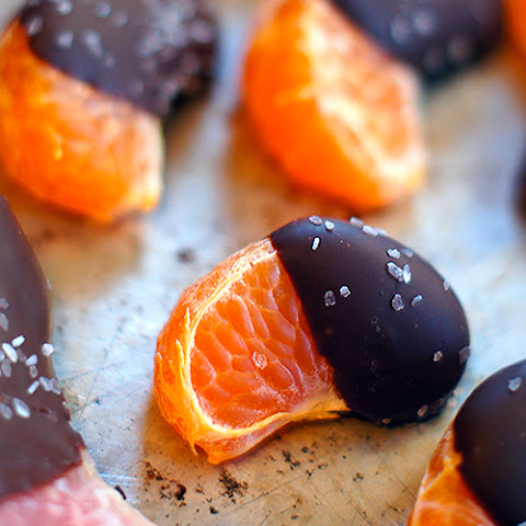 Salted Chocolate Dipped Grapefruit and Mandarin Oranges