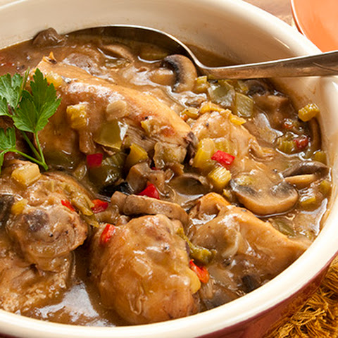 Make-Ahead Cajun Chicken and Mushrooms