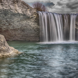 Waterfall by Ana France - Landscapes Waterscapes