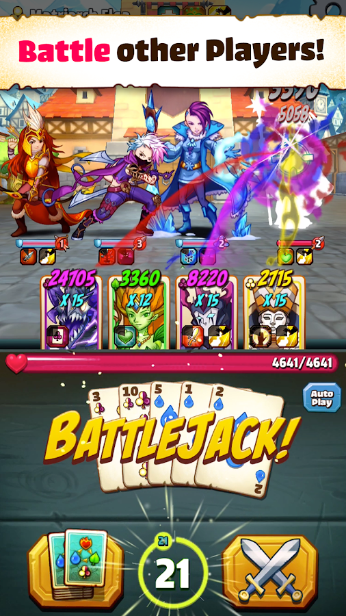 Battlejack: Blackjack RPG Screenshot 2