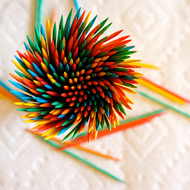 Colorful Toothpicks by Dawn Friend - Artistic Objects Cups, Plates & Utensils ( toothpick, macro, colorful,  )