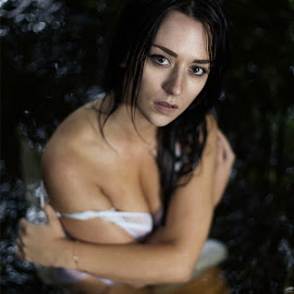 Loving by Lee Niven - Nudes & Boudoir Boudoir ( water, cold, dress, boudoir, woman, beautiful, wet, loving, lonely, eyes )