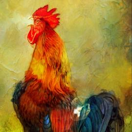 Rooster by Jax Welborn - Digital Art Animals