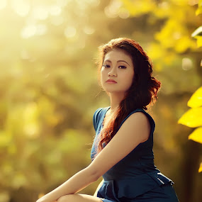 summer by Dimas Winarto - People Portraits of Women ( summer women, blue, summer, beauty, portraits, women )