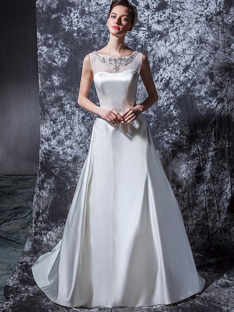 The Gown Includes An Inner Bodice To Give A More Structured Fit Line Skirt Is Supplemented With Detachable Belt And Shimmering Gemstone Buttons