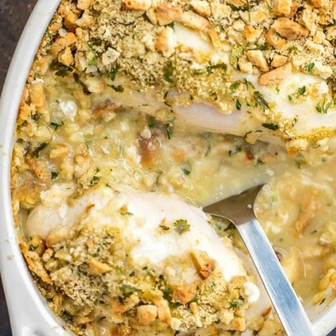 5 Ingredient Chicken Bake With Stuffing Mix Topping