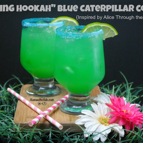 """Smoking Hookah"" Blue Caterpillar Cocktail"