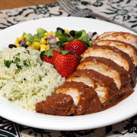 Chicken with Strawberry Mole Sauce