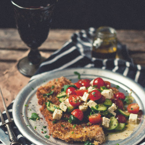 Veal Scallopini with Kalikori Greek Salad