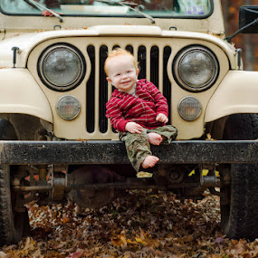 Boy and His Jeep by Ashley Rodriguez - Babies & Children Babies