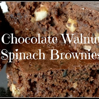 Chocolate Walnut Spinach Brownies