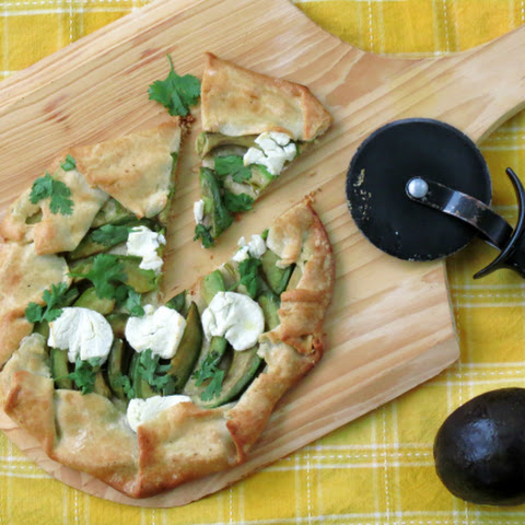 Avocado Goat Cheese Crostata