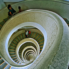 Spiral Up and Down by Alit  Apriyana - Buildings & Architecture Other Interior