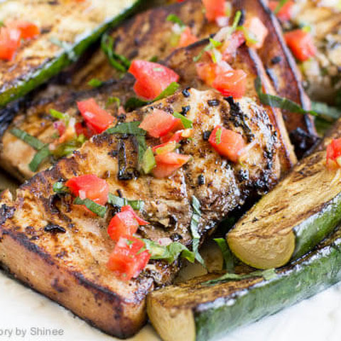 Lime Basil Grilled Swordfish Steaks
