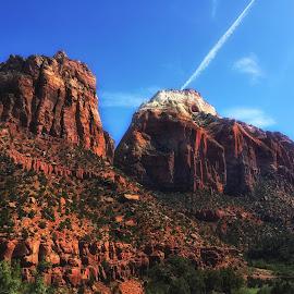 Zion National Park, Utah by Laura Horne - Landscapes Travel ( sky, utah, sandstone, rock, travel, zion )