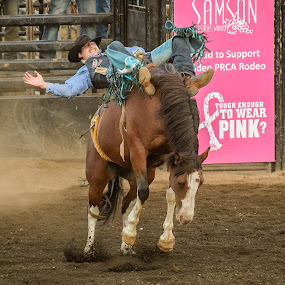 Need New Boots by Dennis McClintock - Sports & Fitness Rodeo/Bull Riding ( horseback, cowboy, bucking horse, rodeo, rodeo 2017, lynden wa )