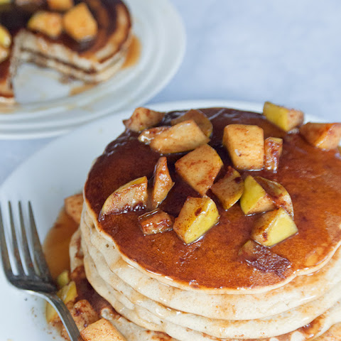 Caramel Apple Blender Pancakes