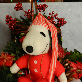 Snoopy Christmas by Karen Carter - Public Holidays Christmas ( holiday, red, decoration, christmas, snoopy )