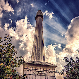 Monument 1 by Jayanta Basu - Buildings & Architecture Statues & Monuments ( clouds, sky, outdoor, dramatic, monument, architecture, light )