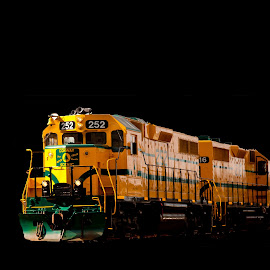 Mystic Train. by Narendra Sharma - Transportation Trains ( transport, train, transportation, travel, digital photography )