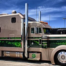 Semi by Ray Ebersole - Transportation Other ( tulsa, shell rotella, truck, super-rig, ok, semi-trck )
