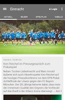 Screenshot of Eintracht Braunschweig
