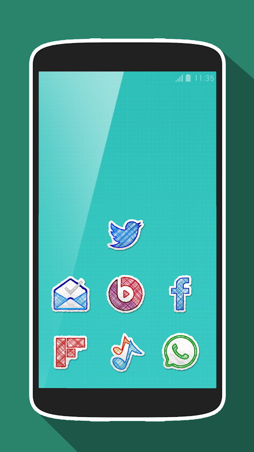 Doodle Draw Icon Pack Screenshot 1