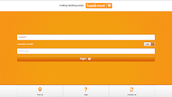 Screenshot of Bankwest