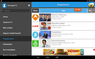 Screenshot of SincroGuía TV