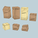 Cardboard boxes - varoius shapes