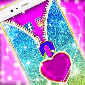 Glitter Zipper App Lock For PC