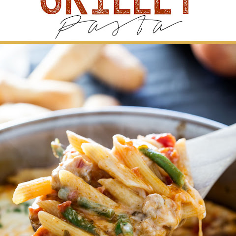 Easy Cheesy Sausage and Green Bean Skillet Pasta