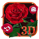 3D Red Roses Love Theme Icon