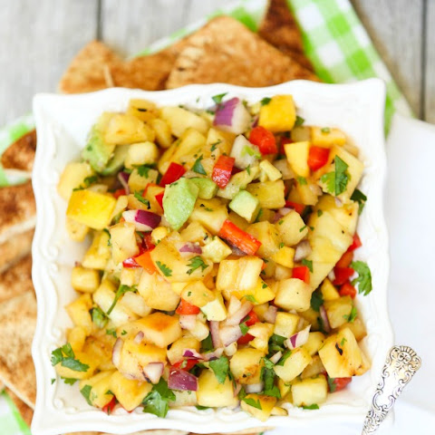 Grilled Pineapple and Mango Salsa