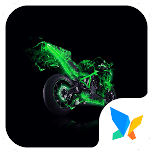 Download free Green whirlwind 91 Launcher Theme for PC on Windows and Mac
