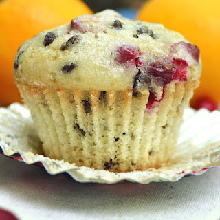 Cranberry Orange Chocolate Chip Muffins