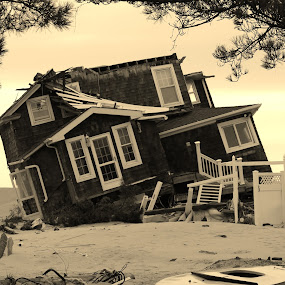 BEACH HOUSE by Rusty Jhorn - News & Events Weather & Storms ( beach house, storm, superstorm, hurricane )