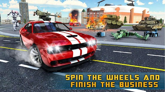 Muscle Car Robot Transformation Game - Eagle Hunt
