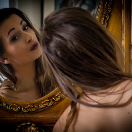 Mirror, mirror on the wall... by Darko Kovac - People Portraits of Women
