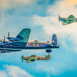 Battle of Britain Memorial Flight. by Anthony P Morris - Transportation Airplanes ( lancaster bbmf, battleofbritainmemorialflight, anthony morris, anthonypmorris, cityoflincoln )
