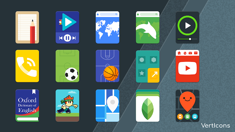 Verticons Icon Pack Screenshot 1