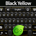 GO Keyboard Black Yellow Icon