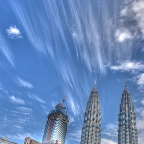 by Sunny Wong - Landscapes Weather ( klcc, sky, cloud, twin tower, kuala lumpur )